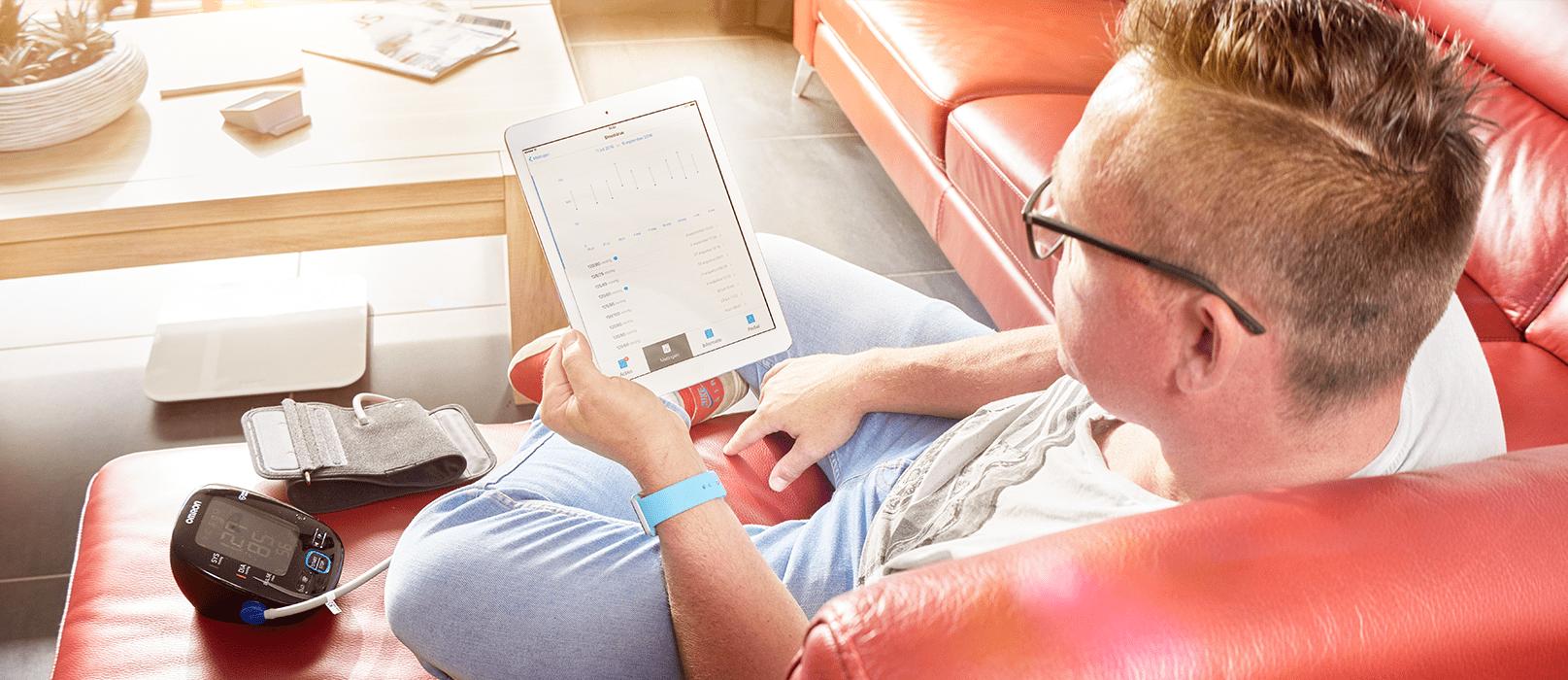 Mäta blodtrycket med cVitals app