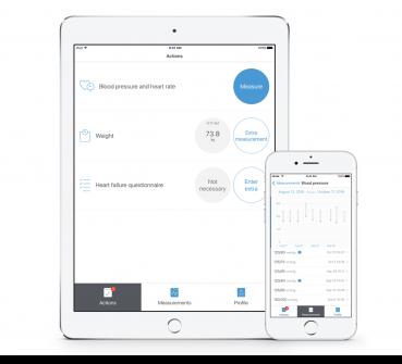 FocusCura cVitals App voor HartWacht patiënten