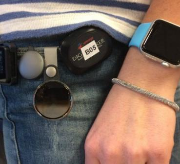 Martine with activity trackers